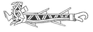 REQUIN-AZTEQUE-Représentation d'un requin selon le Codex Fejérvary-Mayer